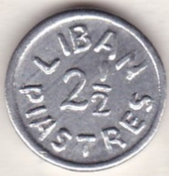 LIBAN /LIBANON . 2 ½ PIASTRES ND (1942-1945) Emission Local .Aluminium - Lebanon