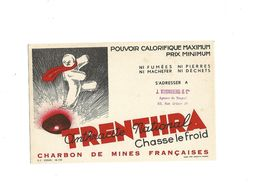 Buvard  Charbon Trenthra Anthracite National - Brandstoffen