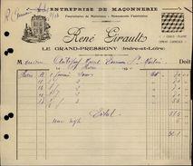 37 - LE GRAND PRESSIGNY - Entreprise De Maçonnerie - France