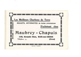 Buvard  Charbon  Maubrey-Chapuis - Gas, Garage, Oil