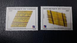 CONGO 1999 YT 1077/8 1077 1078 TAPIS CARPET TISSU CARPETS MNH ** - Congo - Brazzaville