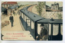 """45 MALESHERBES Arrivée Du Train Des Voyageurs Chef De Gare Quai """" J'arrive à """"  1921  Timb    /D17-2017 - Malesherbes"""