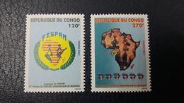 CONGO 2001 YT 1080/1 1080 1081 - MUSIC INSTRUMENTS I- FESTIVAL PANAFRICAIN DE MUSIQUE MUSIC PANAFRICAN FESTIVAL MNH ** - Congo - Brazzaville