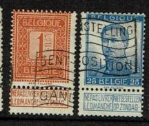108 Et 120  Obl  Gand Expo - 1912 Pellens