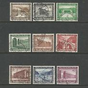 Deutsches Reich. Winterhilfswerk, Moderne Bauten Satz Nr. 634 - 642 Gestempelt - Deutschland