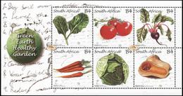 South Africa. 2011. Green Earth Healthy Garden (MNH OG **) Miniature Sheet - Ungebraucht