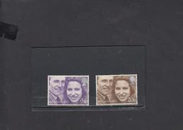 GRAN BRETAGNA   1973 - Unificato  700/01 - Nozze - 1952-.... (Elisabetta II)
