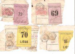 Chemin De Fer - Spoorweg Fragment Bulletin D'expédition C.Schaerbeek (Central) Diverses Informations AP1173 - Briefe & Fragmente