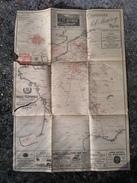 # RARE # Carte Plan Ligne Réseaux FRANCE TELEPHONIQUE Par Dencède 1894 Didot Bottin ( ATTENTION MAUVAIS ETAT ) - Maps
