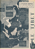 1950 : Document, LE TIBET (4 Pages Illustrées) Monastères, Moine, Col De Jetrin, Lhassa, Le Dalaï Lama, Armée, Le Potala - Non Classés
