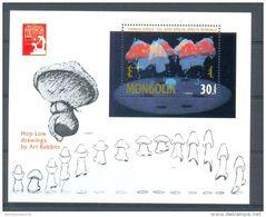 NctA470 WALT DISNEY FANTASIA PADDESTOELEN MUSHROOMS PILZE SETAS FUNGHI MONGOLIA 1991 PF/MNH - Disney