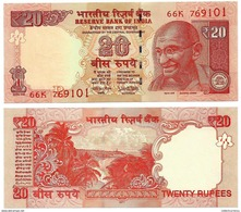 India 20 Rupees P-103 2017 Letter R UNC - India