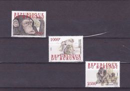 X] Série ** Complete Set Primates Burundi 2011 - Très Forte Valeur: 2500 Fbu Ape Singe Gorilla Gorille - 2010-..: Neufs