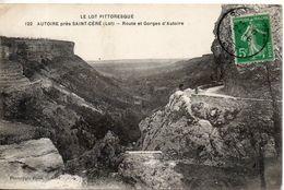 46. Autoire Près Saint Céré. Route Et Gorges D'autoire - Saint-Céré