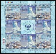 UKRAINE 2009. INTERNATIONAL POLAR YEAR. PRESERVATION OF GLACIERS. Mini-sheet Mi-Nr. 1027-28 Klb. MNH (**) - Preservare Le Regioni Polari E Ghiacciai