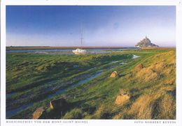 Künstler Fotokarte  - Marschgebiet Vor Dem Mont St. Michel - Foto Norbert Kustos    **19950-046** - Le Mont Saint Michel