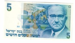 ISRAEL 5 New Shequalim 1985 Pick 52A UNC - Israele