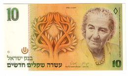 ISRAEL 10 New Shequalim 1992 Pick 53C UNC - Israel