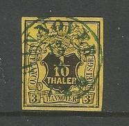 Hannover. Glatter Wertschild Unter Wappen, Nr. 5 Gestempelt - Hannover