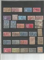 FRANCE: LOT DE 30 TIMBRES FISCAUX - Revenue Stamps