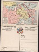 Correspondance Des Armées FM Drapeau France Russie Angleterre Belgique Carte Europe Carte Du Front Flandres Guerre 14 - Postmark Collection (Covers)
