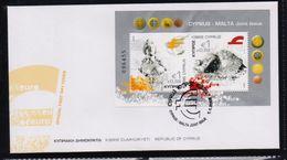 CYPRUS FDC JOINT ISSUE CYPRUS MALTA M/S -  1/1/08(K) - Chypre (République)