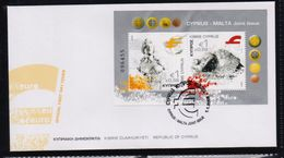 CYPRUS FDC JOINT ISSUE CYPRUS MALTA M/S -  1/1/08(K) - Cipro (Repubblica)