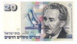 ISRAEL 20 New Shequalim 1987 Pick 54A UNC - Israele