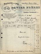 42 - CHAMBON-FEUGEROLLES - FACTURE - Manufacture De Limes - Davier Frères - 1925 - France