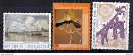 France 3421 3429 3435 Arts Tableaux Toulouse Lautrec Barthold Decaris 2001  Neuf ** TB MNH Faciale 2.5 - Künste
