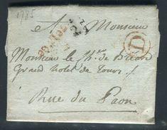 France - Lettre Avec Texte De Paris Pour Paris En 1785 , Cachets De La Petite Poste De Paris - Ref N 105 - Postmark Collection (Covers)