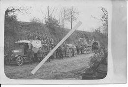 1918 Section De Télégraphistes Allemands Camion Attelage Fernsprecher Abteilung 33 Feld Post 890 33è D.I Carte Photo - War, Military