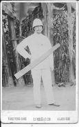 1890-1910 Indochine Lang-son Portrait D'un Administrateur Colonial Avec Casque Colonial 1 Photo - War, Military