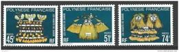 "Polynésie YT 138 à 140 "" Habits De Danse "" 1979 Neuf** - Französisch-Polynesien"