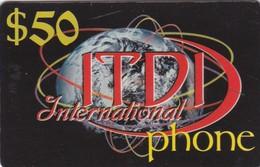 Palestine, PL-PRE-IDT-0002, ITDI International Phone, $50, Unused, 2 Scans . - Palestine