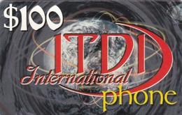 Palestine, PL-PRE-IDT-0003, ITDI International Phone, $100, Unused, 2 Scans . - Palestine