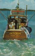 Miami FL Florida - Men On The Boat INTERIM - Landing A Sailfish - Written In 1954 - 2 Scans - United States