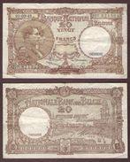 BELGIQUE - 20 FRANCS Albert Et Elisabeth - 01/09/1948 - [ 6] Staatskas
