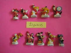Série Complète De 10 Feves Disney En Porcelaine Décor Or - MICKEY SYMPHONIE 2008 ( Feve ) - Disney