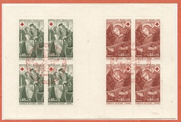 N°2019 Y.T. Carnet Croix Rouge 1970 Oblitéré Premier Jour Poitiers - Booklets
