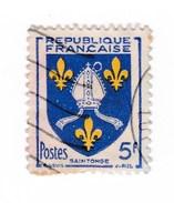 YT 1005 Blason De Saintonge - Variété Anneau Lune (SUP) - Oblitération Partielle - RARE !!! - Errors & Oddities