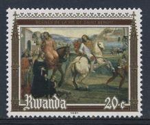 "Ruanda Rwanda 1981 Mi 1135 YT 1016 ** 'St. Benedict Leaving His Parents"" Fresco Abbey Monte Oliveto Maggiore - Abdijen En Kloosters"