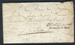France - Lettre Avec Texte Administratif De Paris Pour Mery Sur Seine En 1795 , Griffe Com. Armées De Terre - Ref N 123 - 1801-1848: Precursors XIX