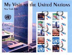 My Visit To The United Nations - Feuillet 28x22cm Avec Bloc, Oblitéré; Selon Scan, Lot 49263 - New-York - Siège De L'ONU