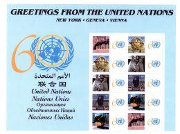 Greetings From The United Nations - Feuillet 28x22cm Avec Bloc, Neuf **; Selon Scan, Lot 49264 - New-York - Siège De L'ONU