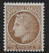 Cérès De Mazelin - N°  681 **  - Variété 2 Et F Obstrués - 1945-47 Cérès De Mazelin