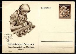 "German Empires,DR 1938/39 GS WHW Mi.Nr.P274/03""Dezember,Arbeiterin "" 1 GS Blanco - Allemagne"