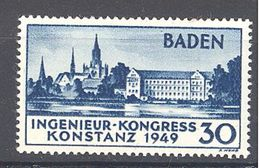 Allemagne Baden: Yvert N° 46* - Zone Française