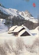 Vallée De La Clarée -  Chalets Du Jadis Sous La Neige - (au Dos Paysage De La Savoie !! ) - France