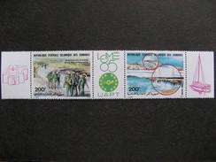 Comores: TB Triptyque PA N° 212 A, Neuf XX. Vignette LOME 85. - Comores (1975-...)